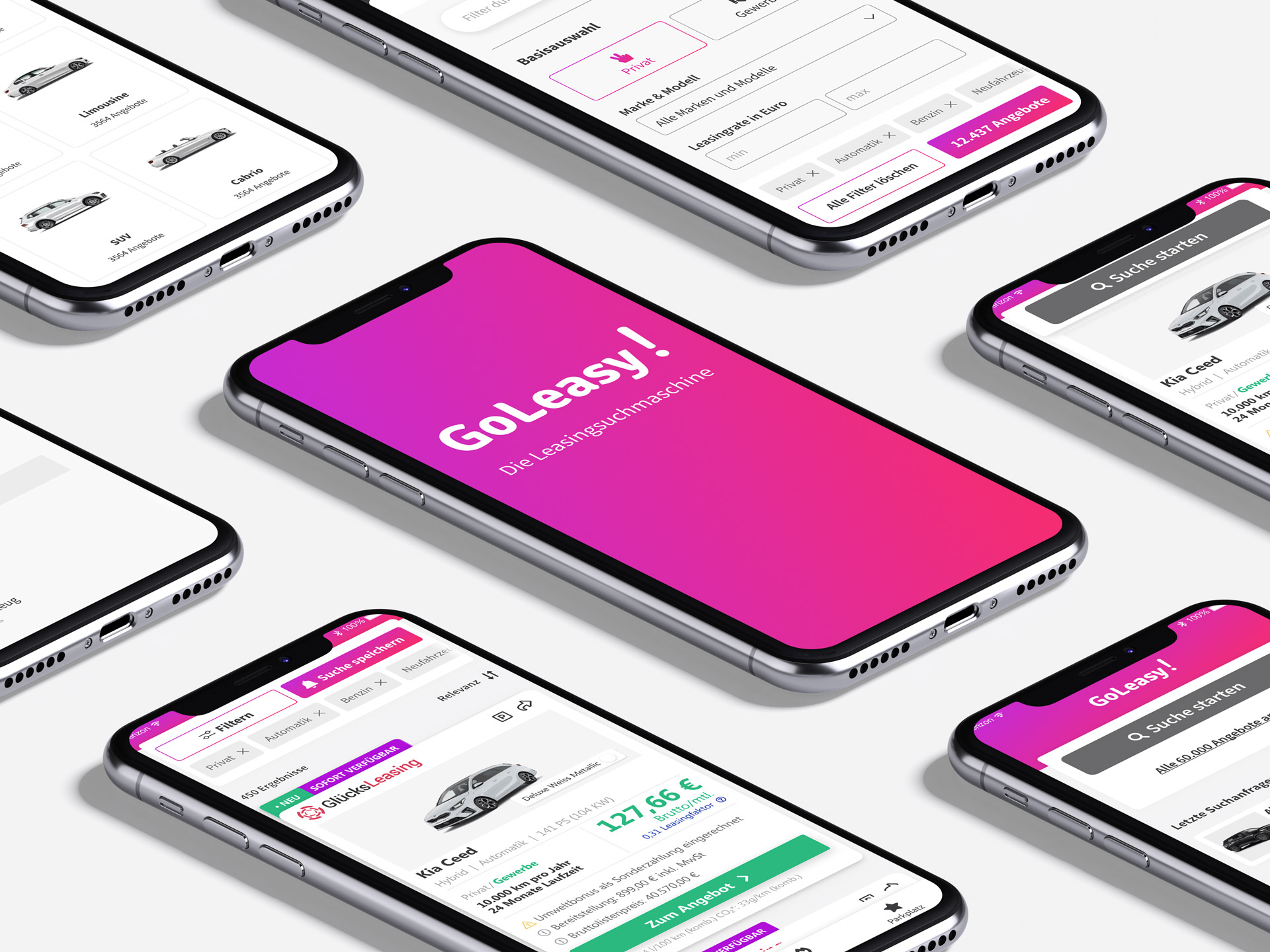 Goleasy App auf Smartphone